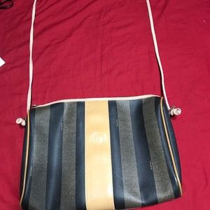 Vintage Fendi Penguin Striped Bag